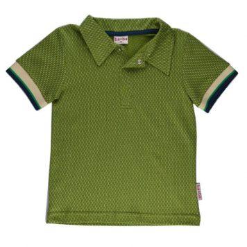 Baba Babywear Polo Shirt Boys Jacquard Kaki