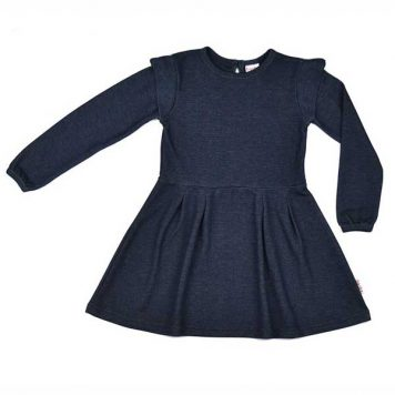 Baba Babywear Ruffle Dress Denim Blue