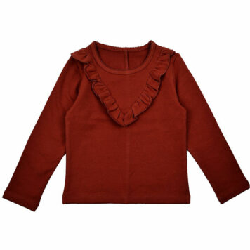 Baba Babywear Ruffle Shirt Brandy Brown