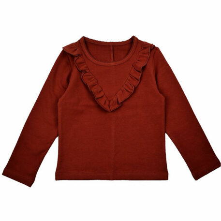 Baba Babywear Ruffle Shirt Brandy Brown