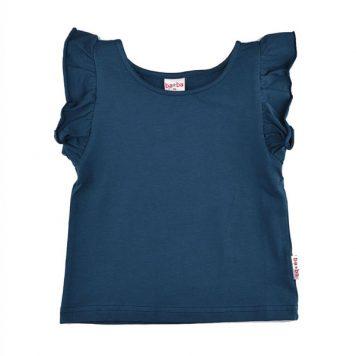 Baba Babywear Ruffle Shirt Dark Blue
