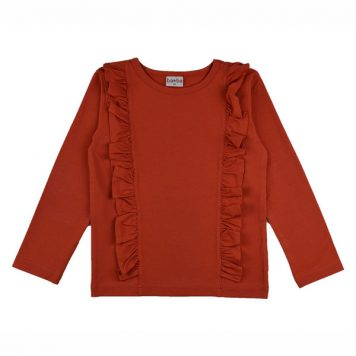 Baba Babywear Ruffle Shirt Red