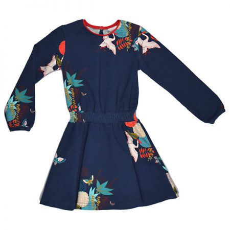 Baba Babywear Smockdress Crane Birds