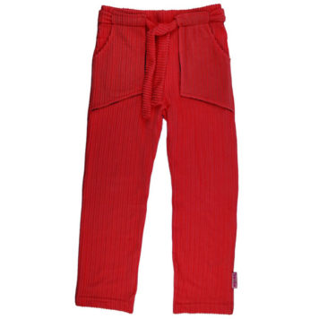 Baba Babywear Straight Pants Corduroy Red