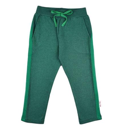 Baba Babywear Stripe Pants Pique Bicolor Green