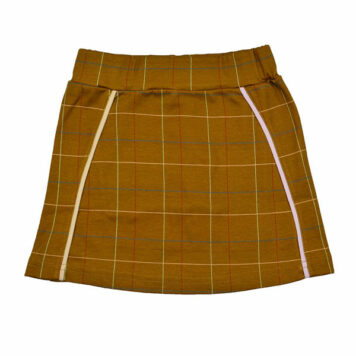 Baba Babywear Sweat Skirt Checked Mustard