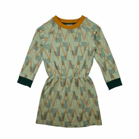 Baba Babywear Sweater Dress Geometric Jacquard