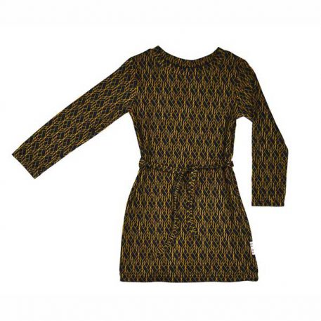 Baba Babywear Sweater Dress Jacquard Cubes