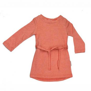 Baba Babywear Sweater Dress Jacquard Red