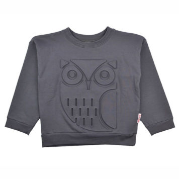 Baba Babywear Sweater Owl Dark Grey