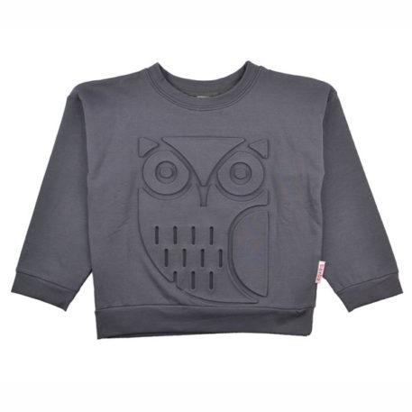 Baba Babywear Sweater Owl Dark Grey