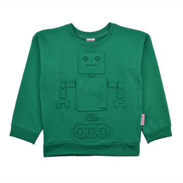 Baba Babywear Sweater Robot Green