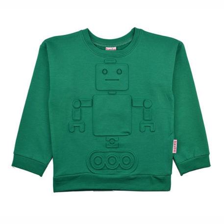 Baba Babywear Sweater Robot Green