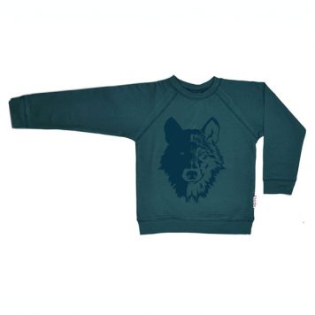 Baba Babywear Sweater Wolf Dark Green