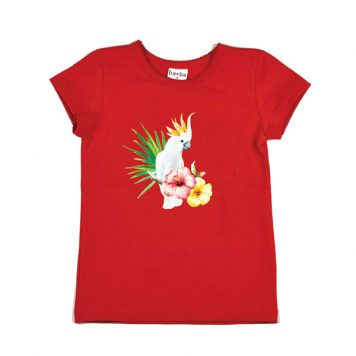 Baba Babywear T-shirt Cockatoo Red