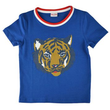 Baba Babywear T-shirt Tiger Blue