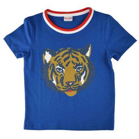 Baba Babywear T-shirt Tiger Blue