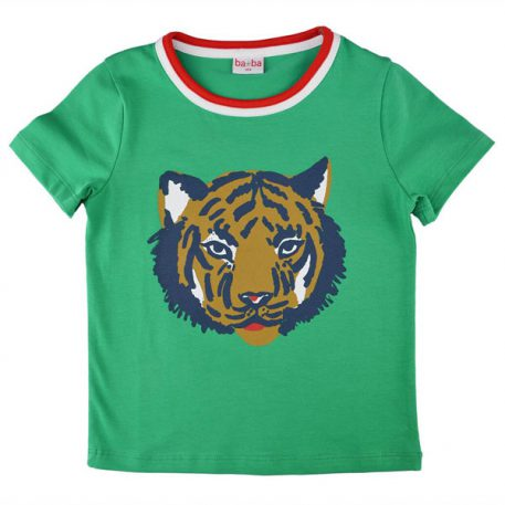 Baba Babywear T-shirt Tiger Green