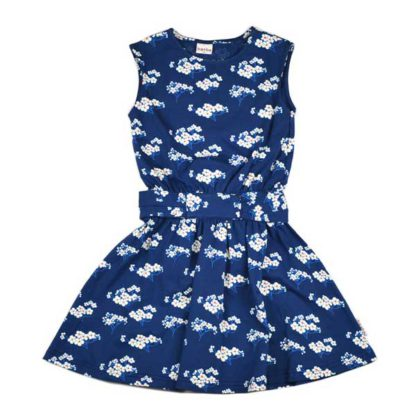 Baba Babywear Tie Dress Julia Blue