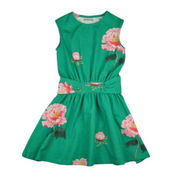 Baba Babywear Tie Dress Peonies
