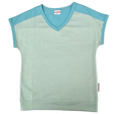 Baba Babywear V-neck Shirt Jacquard Two Tones