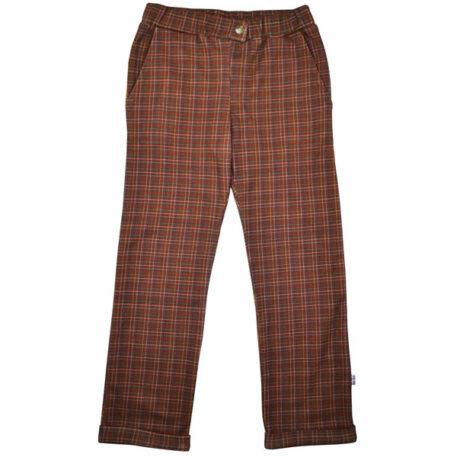 Baba Kidswear Boys Pants Brown Check