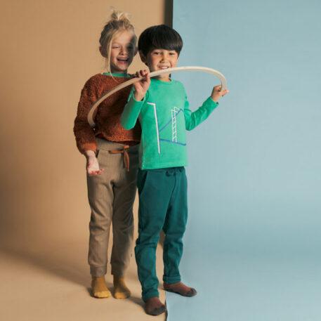 Baba Kidswear Cath Sweater Pluche Brown