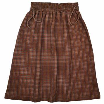 Baba Kidswear Chaga Skirt Brown Check