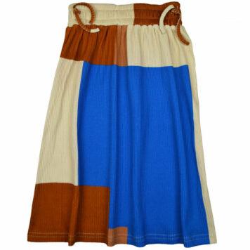 Baba Kidswear Chaga Skirt Colorblock Rib