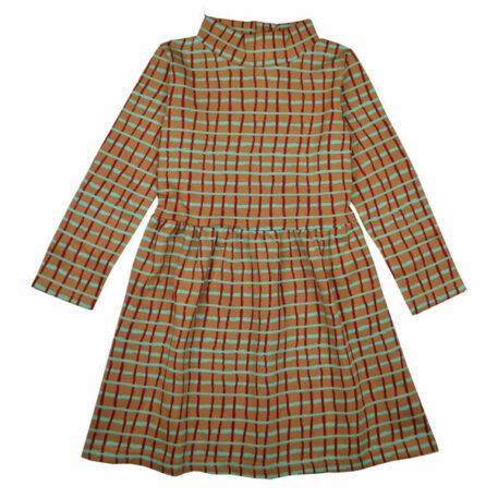 Baba Kidswear Coco Dress Raster Green