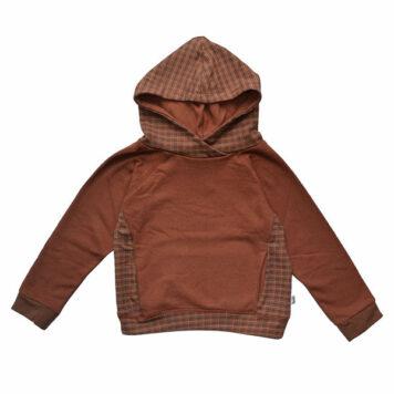 Baba Kidswear Hooded Sweater Brown Dots