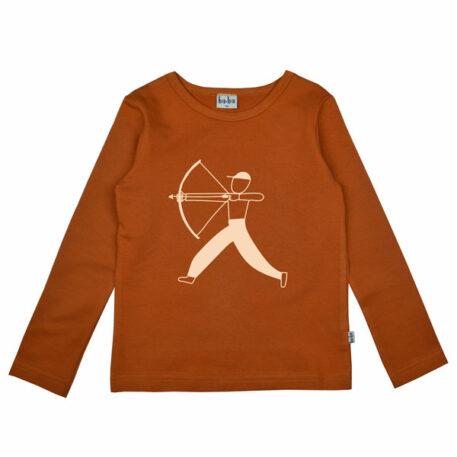 Baba Kidswear Longsleeve Bow Leather Brown