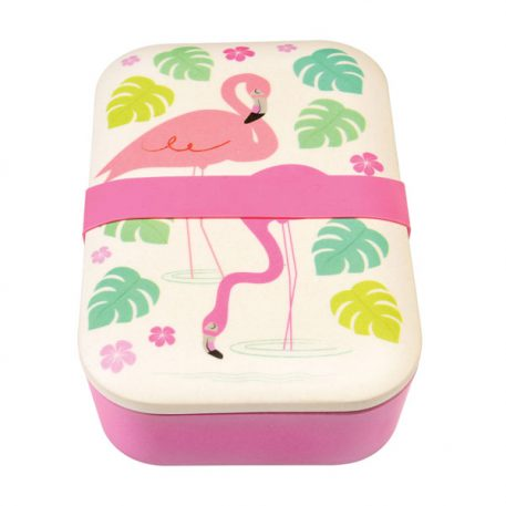 Bamboo Lunch Box Flamingo Bay