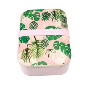 Bamboo Lunch Box Tropical Palm