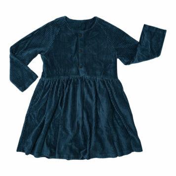 CarlijnQ Corduroy Dress Buttons Teal