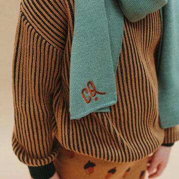CarlijnQ Knitted Sweater Backpack Stripe