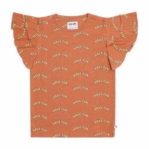 CarlijnQ Ruffled T-Shirt Have Fun