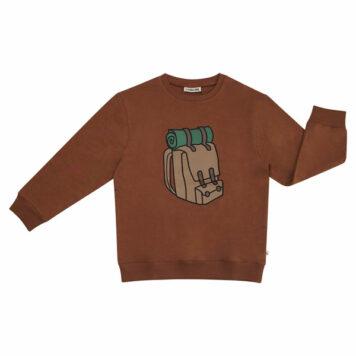 CarlijnQ Sweater Backpack Print Brown