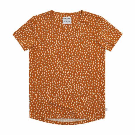 CarlijnQ T-Shirt Dropback Golden Sparkles