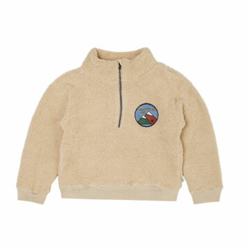 CarlijnQ Teddy Sweater with Zipper Mountain Air