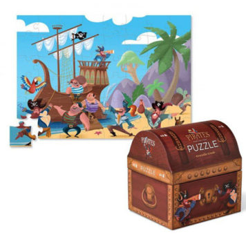 Crocodile Creek Double Fun Puzzle Pirate Treasure 48ST