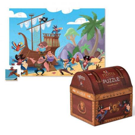 Crocodile Creek Double Fun Puzzle Pirate Treasure 48ST