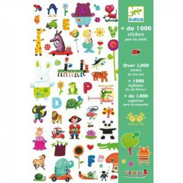 Djeco 1000 stickers voor kleintjes