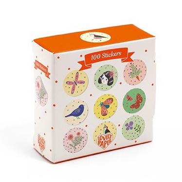 Djeco Doosje 100 stickers Chichi