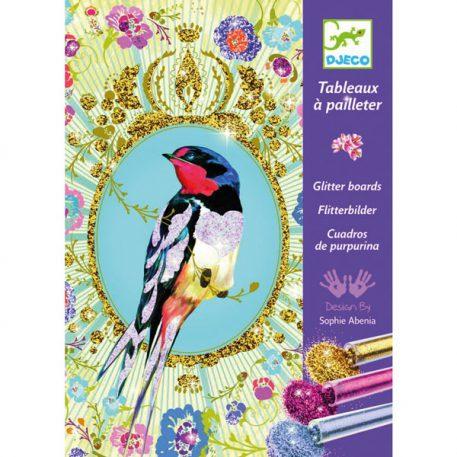 Djeco Glitterschilderijen Birds