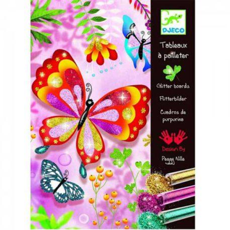 Djeco Glitterschilderijen Vlinder en Insecten