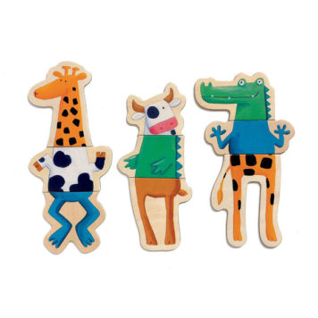 Djeco Houten Magneten Crazy Animals