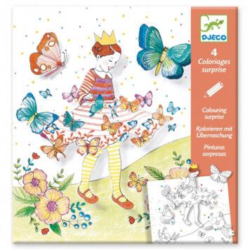 Djeco Kleurplaten Lady Butterfly 4+