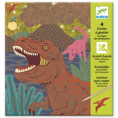 Djeco Kraskaarten Dinosaurus 6+