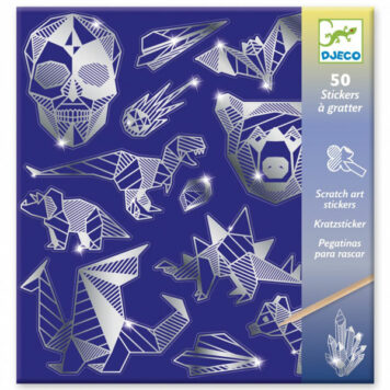 Djeco Krasstickers Metallic - Iron 6+